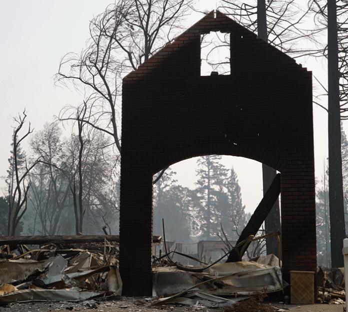Tubbs fire devastation